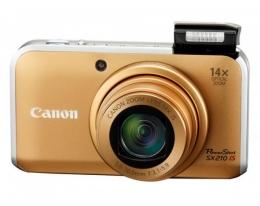 Фотоаппарат Canon PowerShot SX210 gold