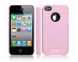Кейс SGP Ultra Thin глянцевый розовый для iPhone 4 / 4S