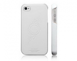 Кейс SGP Leather Grip белый для iPhone 4 / 4S