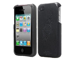 Кейс SGP Leather Grip черный для iPhone 4 / 4S