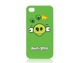 Кейс Angry Birds King Pig Green для iPhone 4 / 4S