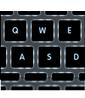 Клавиатура с подсветкой. Как видится, так и пишется.
