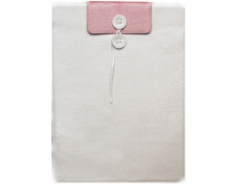 Чехол Dublon Shelter white/flamingo - MacBook Air 13