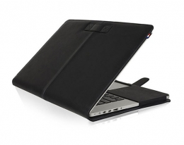Кожаный чехол Decoded Leather Slim Cover Black - MacBook Pro Retina 13""