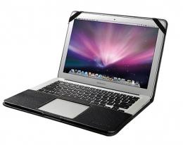 "Кожаный чехол Decoded Leather Slim Cover Black - MacBook Air 13"""