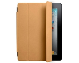 Чехол Apple Smart Cover Leather Tan - iPad 3 / iPad 4