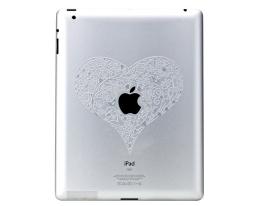 Декоративная пленка Ozaki iCoat Relief Love для iPad 2 / iPad 3 (IC830LO)