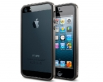 Бампер SGP Neo Hybrid EX Slim Metal Gunmetal - iPhone 5/5s/S...