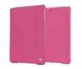 Jisoncase Smart Cover for iPad Air Roze Red