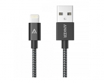 Кабель Anker 0.9m Nylon Braided Lightning to USB Cable Space...
