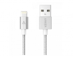 Кабель Anker 0.9m Nylon Braided Lightning to USB Cable Silve...