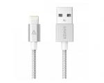 Кабель Anker 0.9m Nylon Braided Lightning to USB Cable Silve...