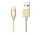 Кабель Anker 0.9m Nylon Braided Lightning to USB Cable Gold ...