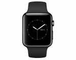 Apple Watch 42mm Space Black Stainless Steel Case with Black...