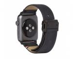 Ремешок Decoded Leather Strap Black для Apple Watch 42 mm (D...