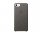 Apple iPhone 7 Leather Case - Storm Gray (MMY12)