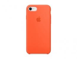 Чехол Apple Silicone Case LUX copy Spicy Orange для iPhone 8/7