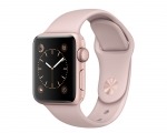Apple Watch Sport 38mm Series 2 Rose Gold Aluminum Case with...