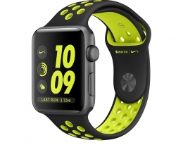 Apple Watch Nike+ 42mm Series 2 Space Gray Aluminum Case with Black/Volt Nike Sport Band (MP0A2)