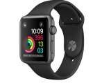 Apple Watch Sport 38mm Series 2 Space Gray Aluminum Case wit...