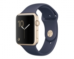 Apple Watch Series 2 42mm Gold Aluminum Case With Midnight B...