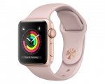 Apple Watch Series 3 GPS 38mm Gold Aluminum Case with Pink S...