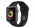 Apple Watch Series 3 GPS 38mm Space Gray Aluminum Case with ...