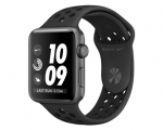 Apple Watch Nike+ 42mm Series 3 GPS Space Gray Aluminum Case...