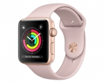 Apple Watch Series 3 GPS 42mm Gold Aluminum Case with Pink S...