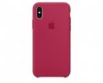 Чехол Apple Silicone Case LUX Copy Rose Red для iPhone X