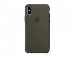 Чехол Apple Silicone Case LUX Copy Dark Olive для iPhone X