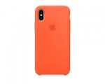 Чехол Apple Silicone Case LUX Copy Spicy Orange для iPhone X