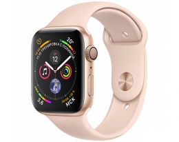 Apple Watch Series4 GPS 40mm Gold Aluminum Case with Pink Sand Sport Band (MU682)