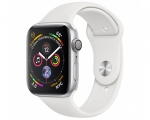 Apple Watch Series 4 GPS 44mm Silver Aluminum Case with Whit...