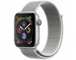 Apple Watch Series 4 GPS 40mm Silver Aluminum Case with Seashell Sport Loop (MU652)