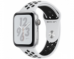 Apple Watch Series 4 GPS 44mm Silver Aluminum Case with Pure...