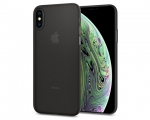 Чехол Spigen Air Skin Black для iPhone XS (063CS24910)