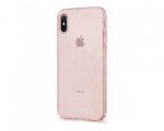 Чехол Spigen Liquid Crystal Glitter Rose Quartz для iPhone Х...