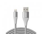Кабель Anker PowerLine+ II Lightning Cable Silver 3м (AK-A84...