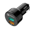 Автозарядка Aukey Quick Charge 3.0 2 USB Black (CC...