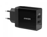 Сетевой адаптер Anker 24W 2 USB Black (A2021L11)