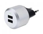 Сетевой адаптер Just Mobile AluPlug Silver (PA-168EU)