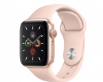 Apple Watch Series 5 GPS 44mm Gold Aluminum Case with Pink S...