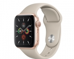 Apple Watch Series 5 GPS 40mm Gold Aluminum Case with Stone ...