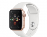 Apple Watch Series 5 GPS 40mm Gold Aluminum Case with White ...