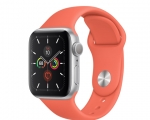 Apple Watch Series 5 GPS 40mm Silver Aluminum Case with Clem...