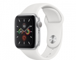 Apple Watch Series 5 GPS 44mm Silver Aluminum Case with Whit...