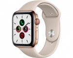 Apple Watch Series 5 GPS + LTE 40mm Gold Stainless Steel Cas...