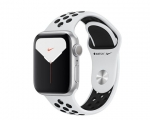 Apple Watch Series 5 GPS 44mm Silver Aluminum Case with Pure...