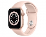 Apple Watch Series 6 GPS 44mm Gold Aluminum Case Pink Sand S...